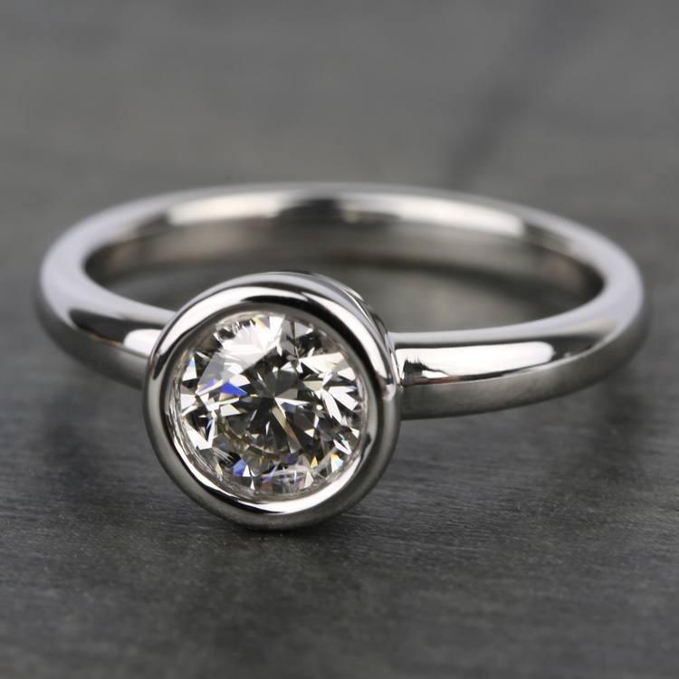 Bezel Solitaire Engagement Ring in Platinum | 05