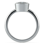 Bezel Solitaire Engagement Ring in White Gold | Thumbnail 02