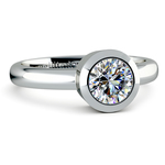 Bezel Solitaire Engagement Ring in White Gold | Thumbnail 04