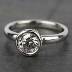Bezel Solitaire Engagement Ring in White Gold | Thumbnail 05