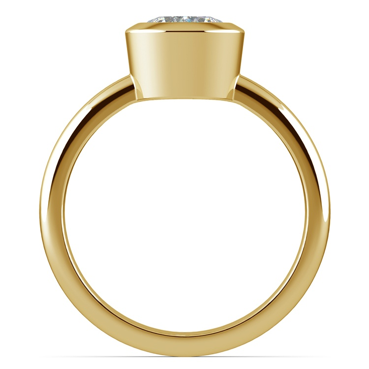 Bezel Solitaire Engagement Ring in Yellow Gold | 02