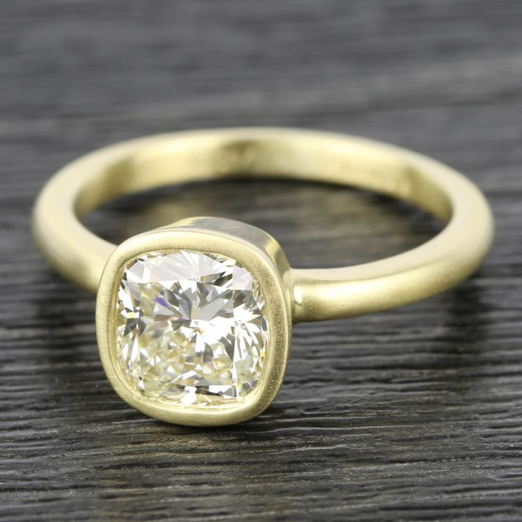 Bezel Solitaire Engagement Ring in Yellow Gold | 05