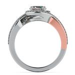 Bypass Split Shank Diamond Engagement Ring in Platinum & Rose Gold | Thumbnail 02