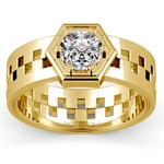 Castor Solitaire Mangagement™ Ring in Yellow Gold (1 ctw) | Thumbnail 02