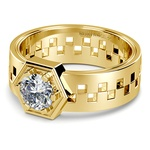 Castor Solitaire Mangagement™ Ring in Yellow Gold (1 ctw) | Thumbnail 04
