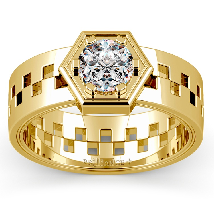 Castor Solitaire Mangagement™ Ring in Yellow Gold (1 ctw) | 01