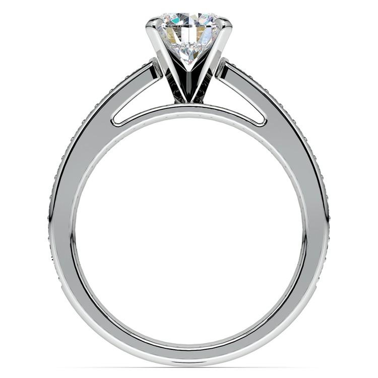 Cathedral Diamond Preset Engagement Ring in Platinum (1/2 ctw) | 04