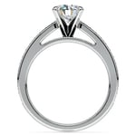Cathedral Diamond Preset Engagement Ring in White Gold (1 1/2 ctw) | Thumbnail 04