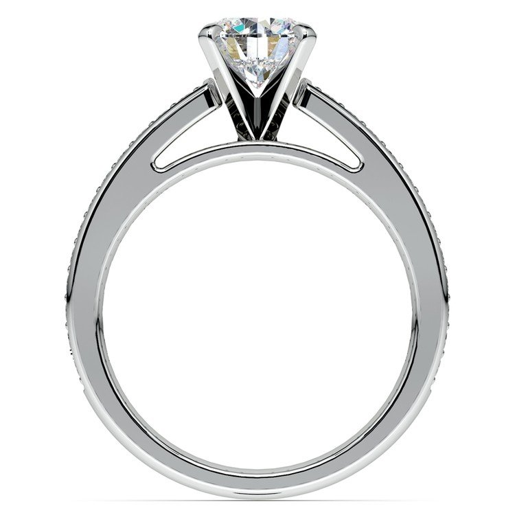 Cathedral Diamond Preset Engagement Ring in White Gold (1 1/2 ctw) | 04