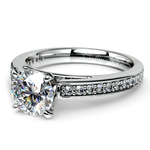 Cathedral Diamond Preset Engagement Ring in White Gold (1 ctw) | Thumbnail 01