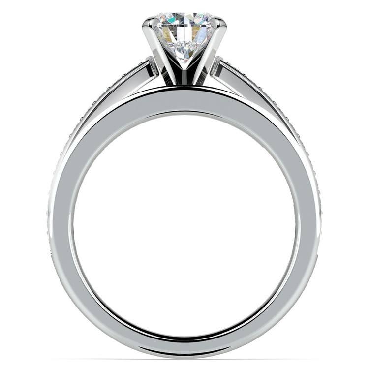 Cathedral Pave Set Diamond Bridal Set In Platinum   02