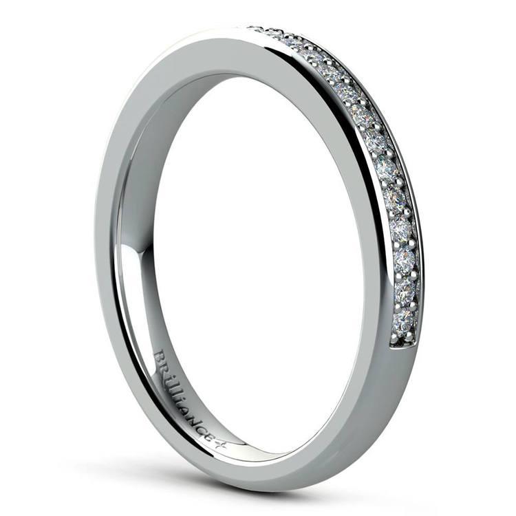 Cathedral Pave Set Diamond Bridal Set In Platinum   05