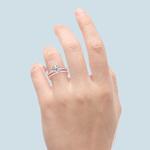 Cathedral Pave Set Diamond Bridal Set In Rose Gold  | Thumbnail 06