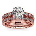 Cathedral Pave Set Diamond Bridal Set In Rose Gold  | Thumbnail 01