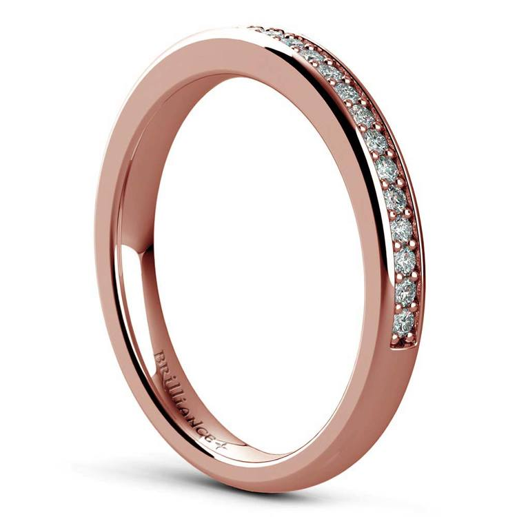 Cathedral Pave Set Diamond Bridal Set In Rose Gold  | 05