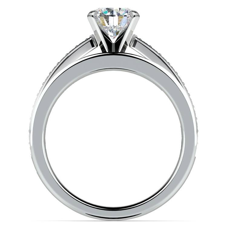 Cathedral Pave Set Diamond Bridal Set In White Gold    02