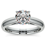 Cathedral Solitaire Engagement Ring in Palladium (3mm) | Thumbnail 01