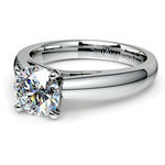 Cathedral Solitaire Engagement Ring in Palladium (3mm) | Thumbnail 04