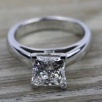 Cathedral Solitaire Engagement Ring in Palladium (3mm) | Thumbnail 05