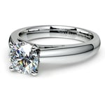 Cathedral Solitaire Engagement Ring in Platinum (3mm) | Thumbnail 04