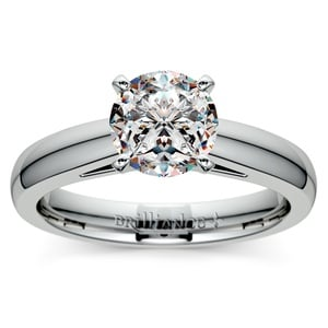 Cathedral Solitaire Engagement Ring in Platinum (3mm)