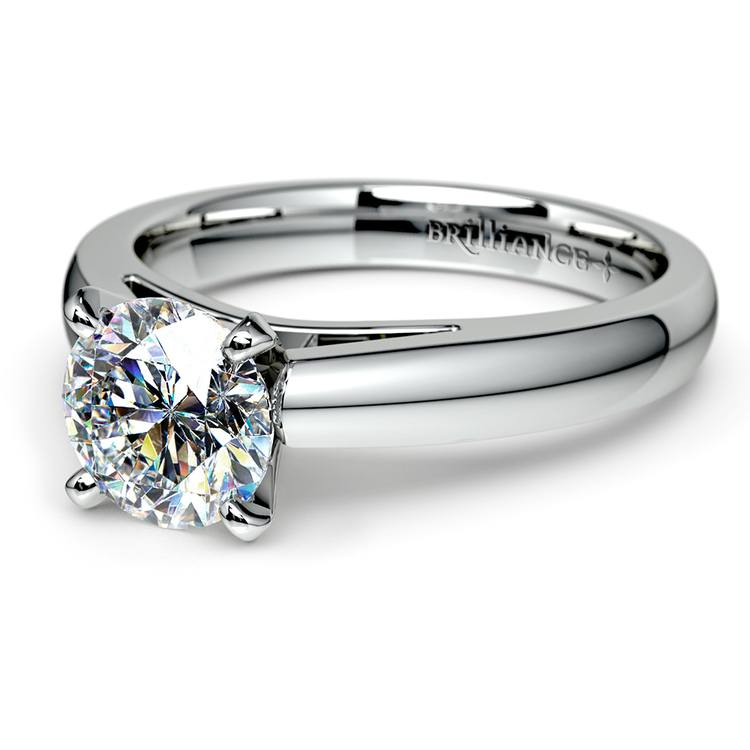 Cathedral Solitaire Engagement Ring in Platinum (3mm) | 04