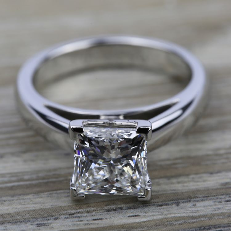 Cathedral Solitaire Engagement Ring in Platinum (3mm) | 05