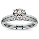 Cathedral Solitaire Engagement Ring in White Gold (3mm) | Thumbnail 01