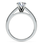 Cathedral Solitaire Engagement Ring in White Gold (3mm) | Thumbnail 02