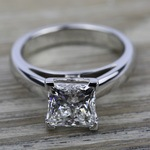 Cathedral Solitaire Engagement Ring in White Gold (3mm) | Thumbnail 05