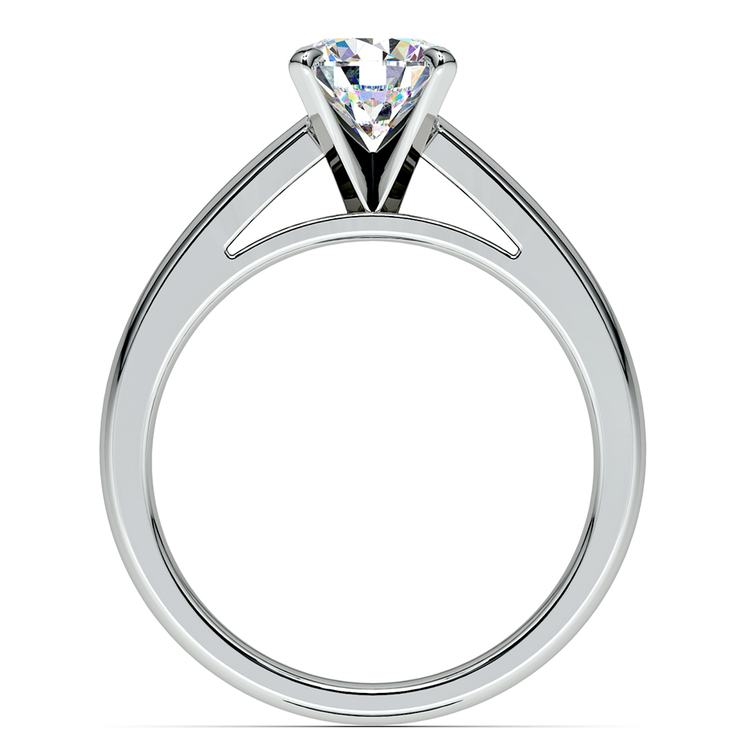 Cathedral Solitaire Engagement Ring in White Gold (3mm) | 02