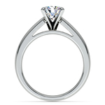Cathedral Solitaire Engagement Ring in White Gold (4mm) | Thumbnail 02