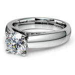 Cathedral Solitaire Engagement Ring in White Gold (4mm) | Thumbnail 04