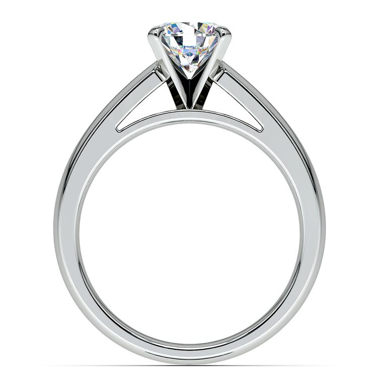 Cathedral Solitaire Engagement Ring in White Gold (4mm) | 02