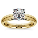 Cathedral Solitaire Engagement Ring in Yellow Gold (3mm) | Thumbnail 01