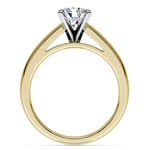 Cathedral Solitaire Engagement Ring in Yellow Gold (3mm) | Thumbnail 02