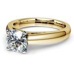 Cathedral Solitaire Engagement Ring in Yellow Gold (3mm) | Thumbnail 04