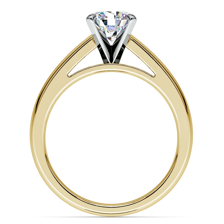 Cathedral Solitaire Engagement Ring in Yellow Gold (3mm) | 02