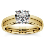 Cathedral Solitaire Engagement Ring in Yellow Gold (4mm) | Thumbnail 01