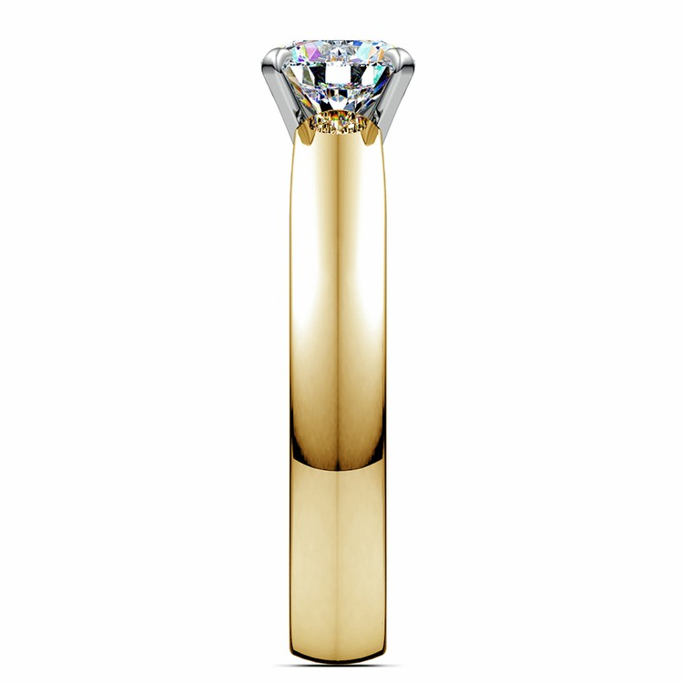 Cathedral Solitaire Engagement Ring in Yellow Gold (4mm)   03