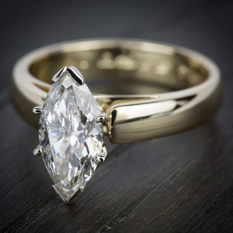 Cathedral Solitaire Engagement Ring in Yellow Gold (4mm) | 05