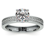 Celtic Knot Solitaire Engagement Ring in Platinum | Thumbnail 01