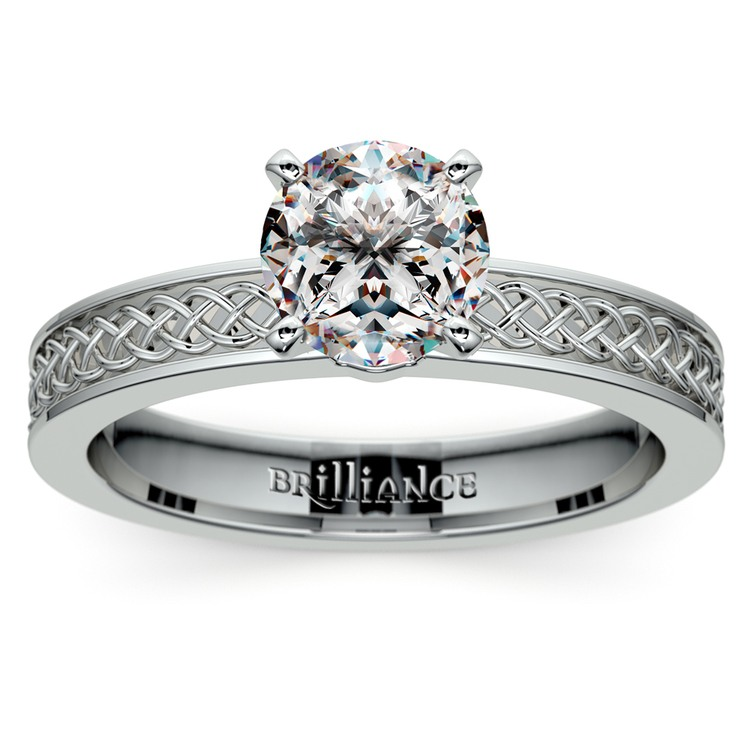 Engagement Rings Knot: Celtic Knot Solitaire Engagement Ring In Platinum