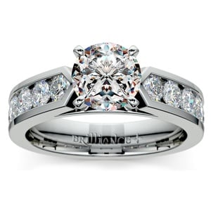 Channel Diamond Engagement Ring in Platinum (1 ctw)