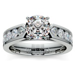 Channel Diamond Engagement Ring in White Gold (1 ctw) | Thumbnail 01