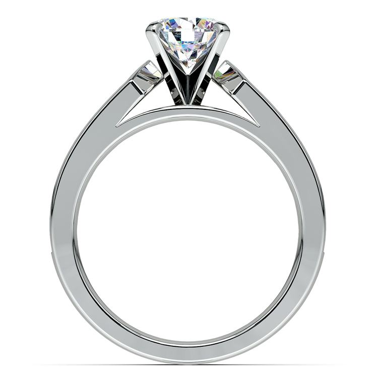 Channel Diamond Engagement Ring in White Gold (1 ctw) | 02