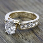 Cathedral Diamond Engagement Ring with Channel Setting in Yellow Gold | Thumbnail 05