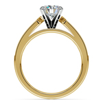 Cathedral Diamond Engagement Ring with Channel Setting in Yellow Gold | Thumbnail 02