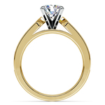 Channel Diamond Engagement Ring in Yellow Gold (1 ctw) | Thumbnail 02