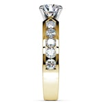Channel Diamond Engagement Ring in Yellow Gold (1 ctw) | Thumbnail 03